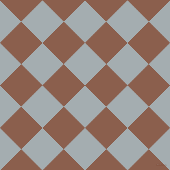 45/135 degree angle diagonal checkered chequered squares checker pattern checkers background, 104 pixel squares size, , Gull Grey and Spicy Mix checkers chequered checkered squares seamless tileable