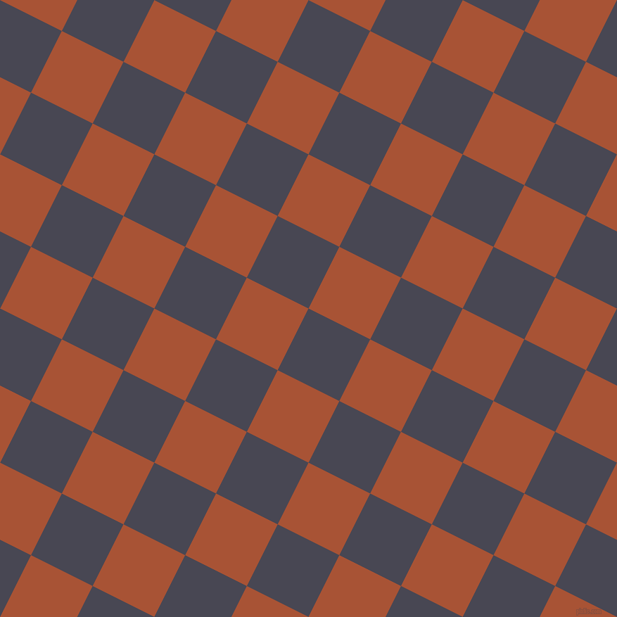 63/153 degree angle diagonal checkered chequered squares checker pattern checkers background, 98 pixel square size, Gun Powder and Orange Roughy checkers chequered checkered squares seamless tileable
