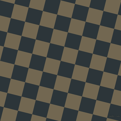 76/166 degree angle diagonal checkered chequered squares checker pattern checkers background, 50 pixel squares size, , Gunmetal and Coffee checkers chequered checkered squares seamless tileable