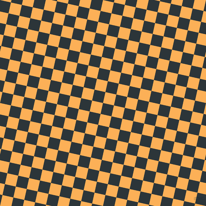 77/167 degree angle diagonal checkered chequered squares checker pattern checkers background, 38 pixel square size, , Gunmetal and Texas Rose checkers chequered checkered squares seamless tileable