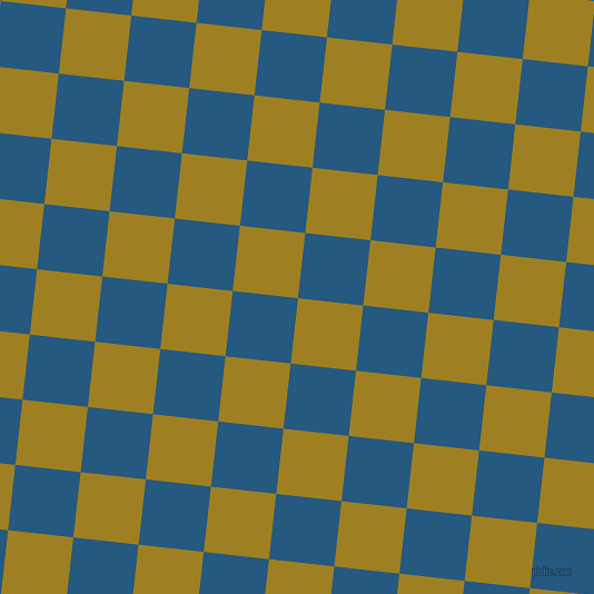 84/174 degree angle diagonal checkered chequered squares checker pattern checkers background, 59 pixel squares size, , Hacienda and Bahama Blue checkers chequered checkered squares seamless tileable