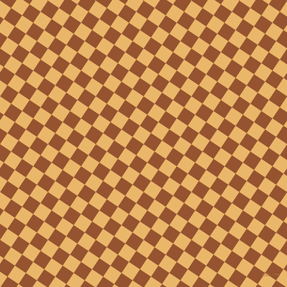 56/146 degree angle diagonal checkered chequered squares checker pattern checkers background, 27 pixel squares size, , Harvest Gold and Chelsea Gem checkers chequered checkered squares seamless tileable