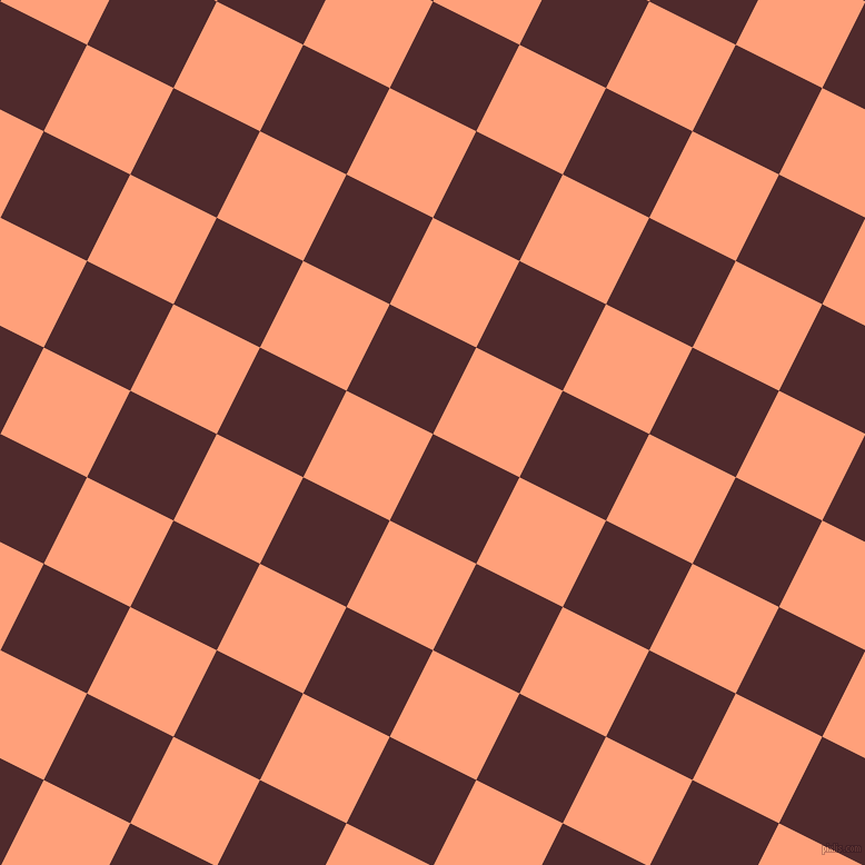 63/153 degree angle diagonal checkered chequered squares checker pattern checkers background, 87 pixel squares size, , Heath and Light Salmon checkers chequered checkered squares seamless tileable