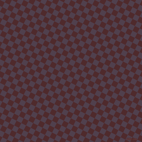 63/153 degree angle diagonal checkered chequered squares checker pattern checkers background, 18 pixel square size, , Heath and Purple Taupe checkers chequered checkered squares seamless tileable
