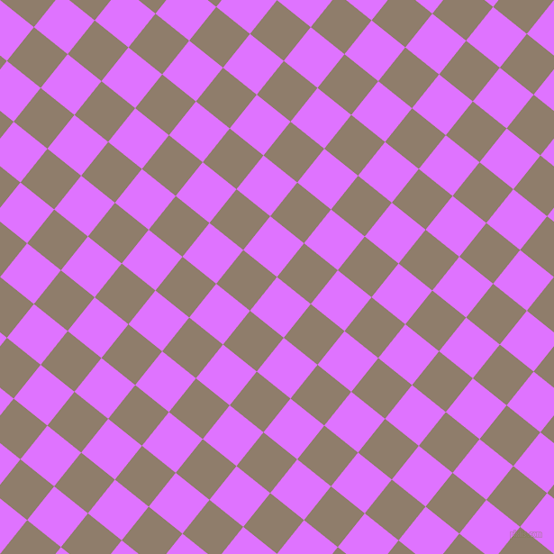 51/141 degree angle diagonal checkered chequered squares checker pattern checkers background, 48 pixel squares size, , Heliotrope and Squirrel checkers chequered checkered squares seamless tileable