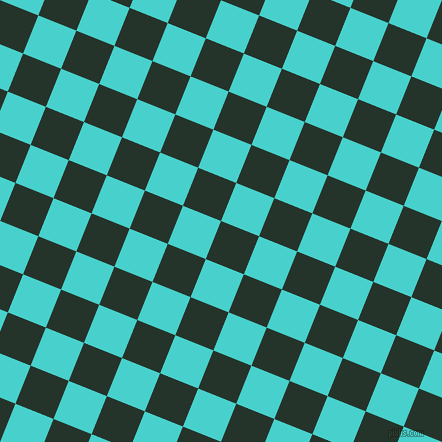 68/158 degree angle diagonal checkered chequered squares checker pattern checkers background, 41 pixel square size, , Holly and Medium Turquoise checkers chequered checkered squares seamless tileable