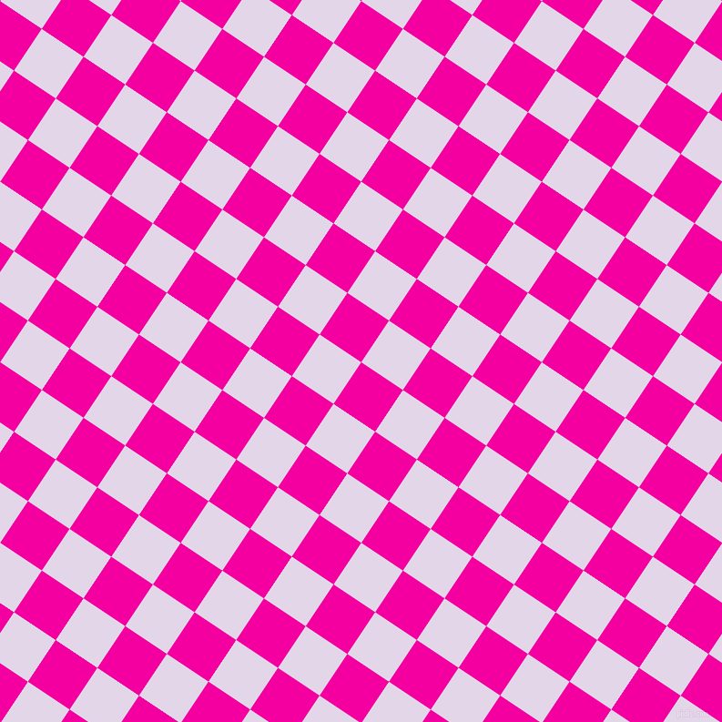 56/146 degree angle diagonal checkered chequered squares checker pattern checkers background, 55 pixel squares size, , Hollywood Cerise and Blue Chalk checkers chequered checkered squares seamless tileable