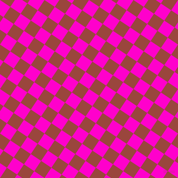 56/146 degree angle diagonal checkered chequered squares checker pattern checkers background, 40 pixel squares size, , Hot Magenta and Cognac checkers chequered checkered squares seamless tileable
