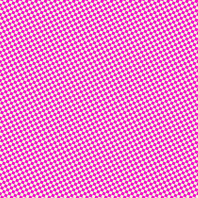 72/162 degree angle diagonal checkered chequered squares checker pattern checkers background, 10 pixel square size, , Hot Magenta and Corn Silk checkers chequered checkered squares seamless tileable