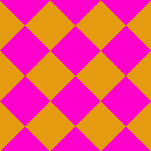 45/135 degree angle diagonal checkered chequered squares checker pattern checkers background, 117 pixel squares size, , Hot Magenta and Gamboge checkers chequered checkered squares seamless tileable