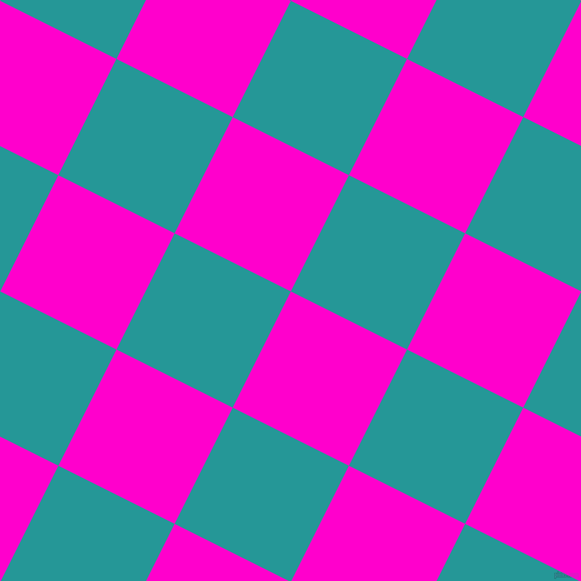 63/153 degree angle diagonal checkered chequered squares checker pattern checkers background, 189 pixel squares size, , Hot Magenta and Java checkers chequered checkered squares seamless tileable