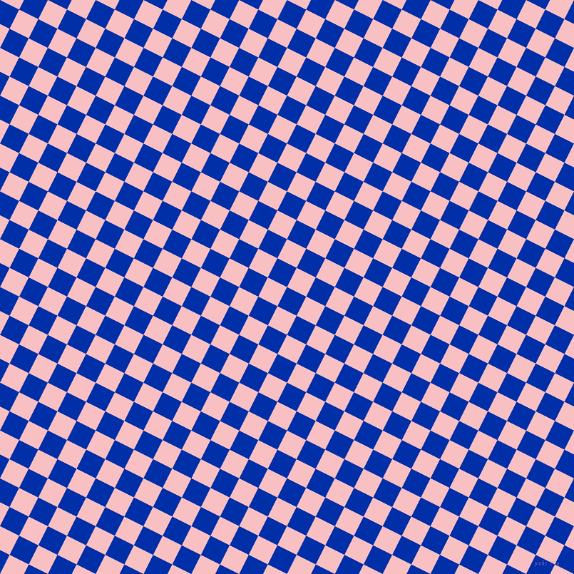 63/153 degree angle diagonal checkered chequered squares checker pattern checkers background, 30 pixel square size, , International Klein Blue and Azalea checkers chequered checkered squares seamless tileable