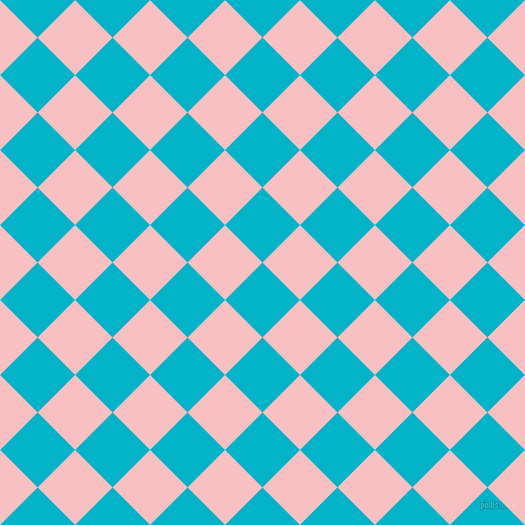 45/135 degree angle diagonal checkered chequered squares checker pattern checkers background, 53 pixel squares size, , Iris Blue and Azalea checkers chequered checkered squares seamless tileable