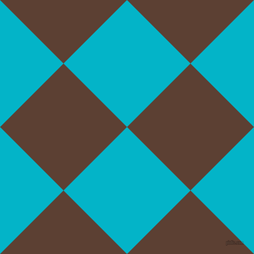 45/135 degree angle diagonal checkered chequered squares checker pattern checkers background, 182 pixel square size, Iris Blue and Very Dark Brown checkers chequered checkered squares seamless tileable