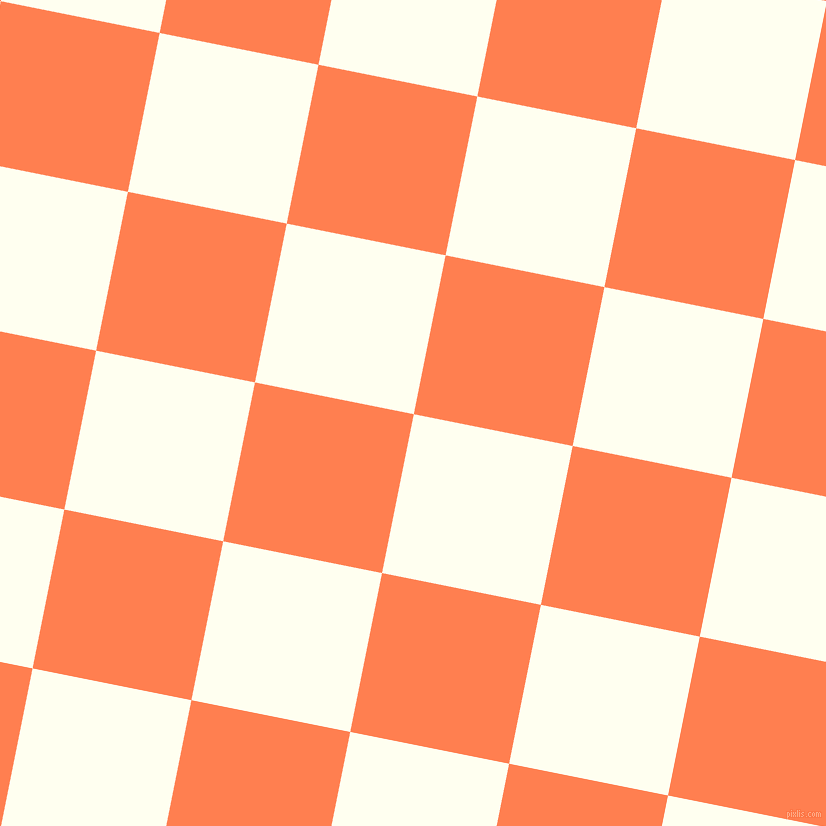 79/169 degree angle diagonal checkered chequered squares checker pattern checkers background, 162 pixel square size, , Ivory and Coral checkers chequered checkered squares seamless tileable