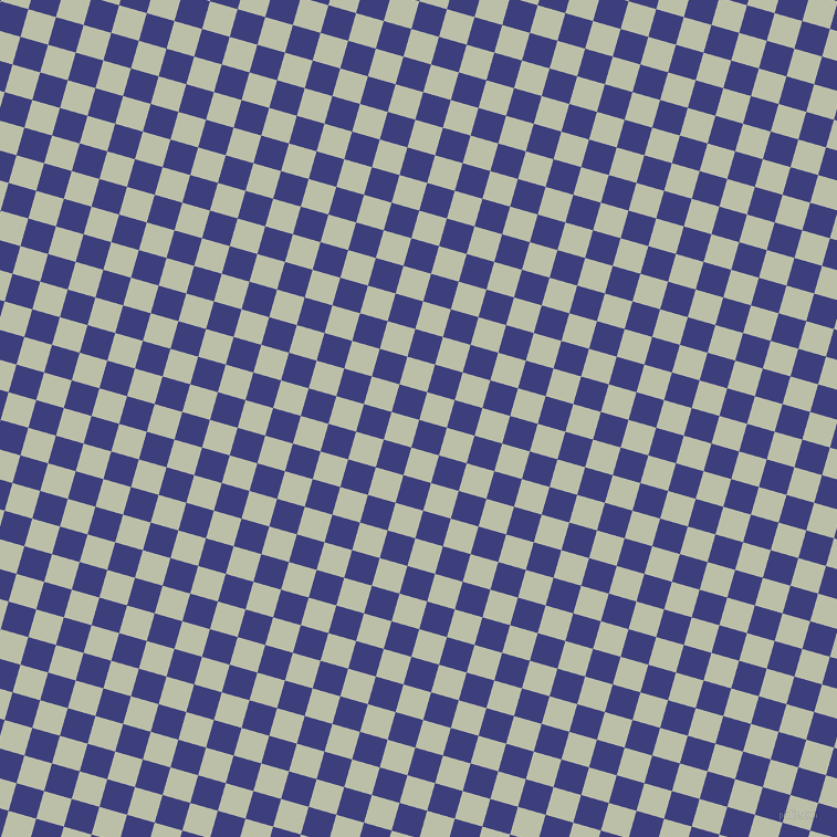 74/164 degree angle diagonal checkered chequered squares checker pattern checkers background, 26 pixel square size, , Jacksons Purple and Beryl Green checkers chequered checkered squares seamless tileable