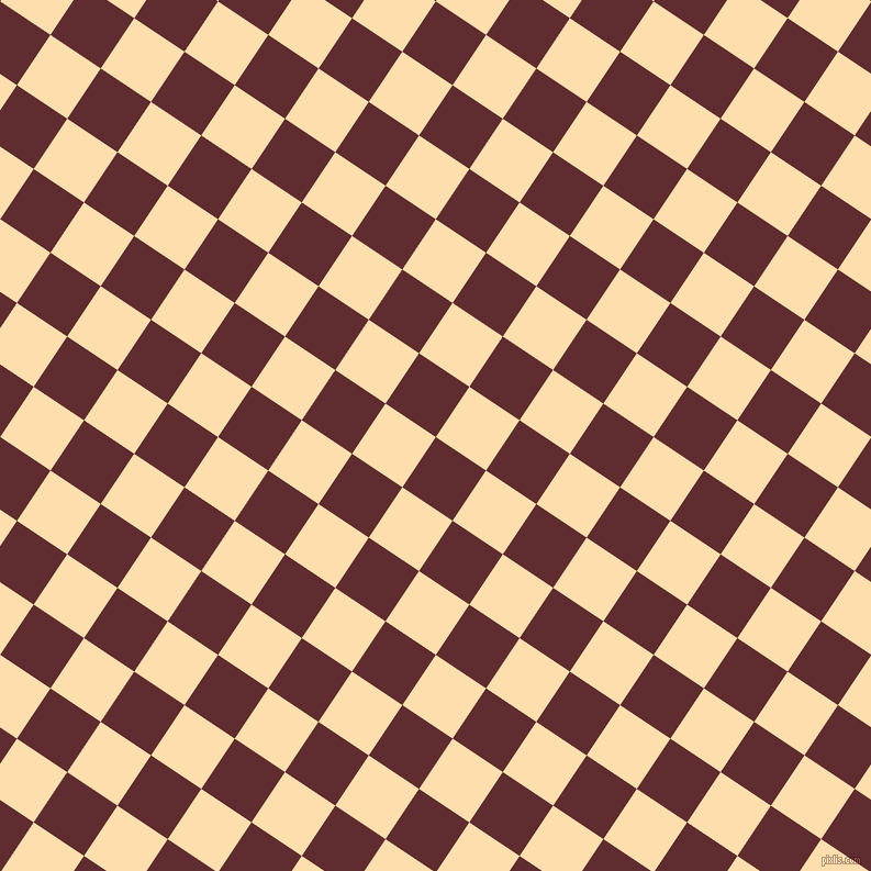 56/146 degree angle diagonal checkered chequered squares checker pattern checkers background, 55 pixel square size, , Jazz and Navajo White checkers chequered checkered squares seamless tileable