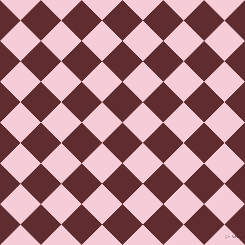 45/135 degree angle diagonal checkered chequered squares checker pattern checkers background, 59 pixel squares size, , Jazz and Pink Lace checkers chequered checkered squares seamless tileable