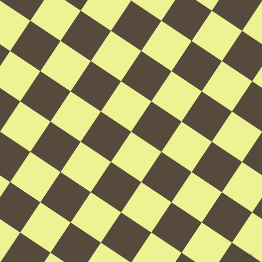 56/146 degree angle diagonal checkered chequered squares checker pattern checkers background, 73 pixel square size, Jonquil and Metallic Bronze checkers chequered checkered squares seamless tileable