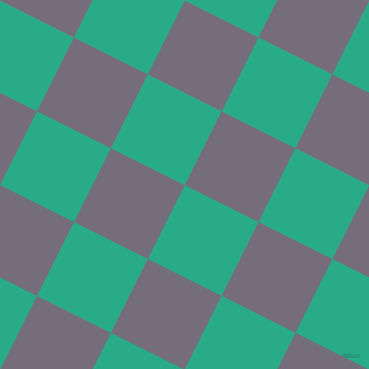 63/153 degree angle diagonal checkered chequered squares checker pattern checkers background, 168 pixel squares size, , Jungle Green and Mamba checkers chequered checkered squares seamless tileable