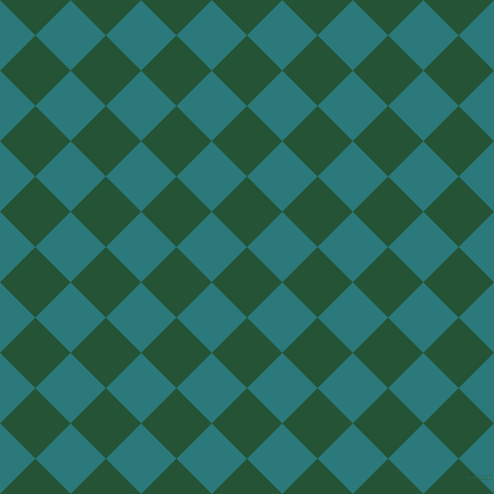 45/135 degree angle diagonal checkered chequered squares checker pattern checkers background, 72 pixel square size, , Kaitoke Green and Atoll checkers chequered checkered squares seamless tileable
