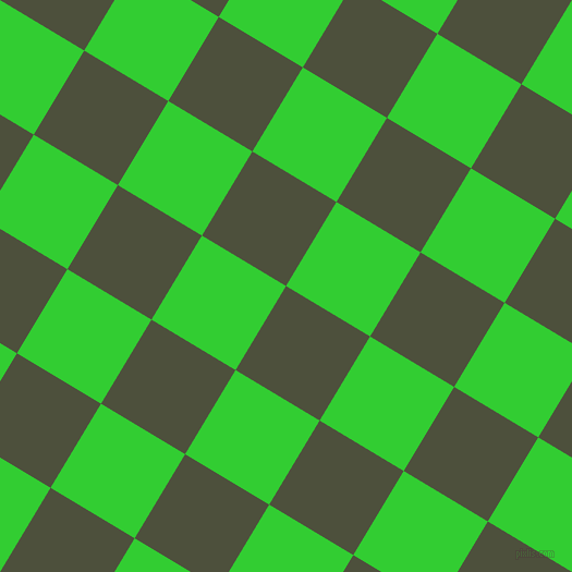 59/149 degree angle diagonal checkered chequered squares checker pattern checkers background, 90 pixel square size, , Kelp and Lime Green checkers chequered checkered squares seamless tileable