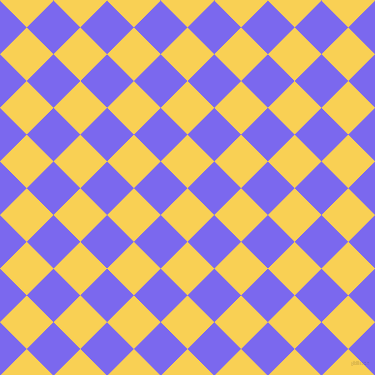 45/135 degree angle diagonal checkered chequered squares checker pattern checkers background, 77 pixel squares size, , Kournikova and Medium Slate Blue checkers chequered checkered squares seamless tileable