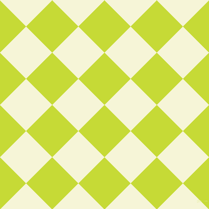 45/135 degree angle diagonal checkered chequered squares checker pattern checkers background, 124 pixel squares size, , Las Palmas and Hint Of Yellow checkers chequered checkered squares seamless tileable