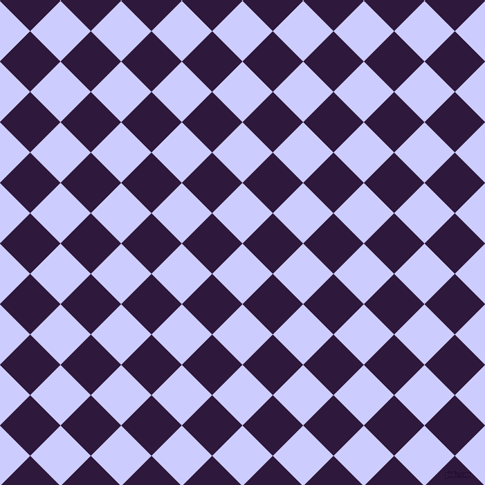 45/135 degree angle diagonal checkered chequered squares checker pattern checkers background, 62 pixel squares size, , Lavender Blue and Blackcurrant checkers chequered checkered squares seamless tileable