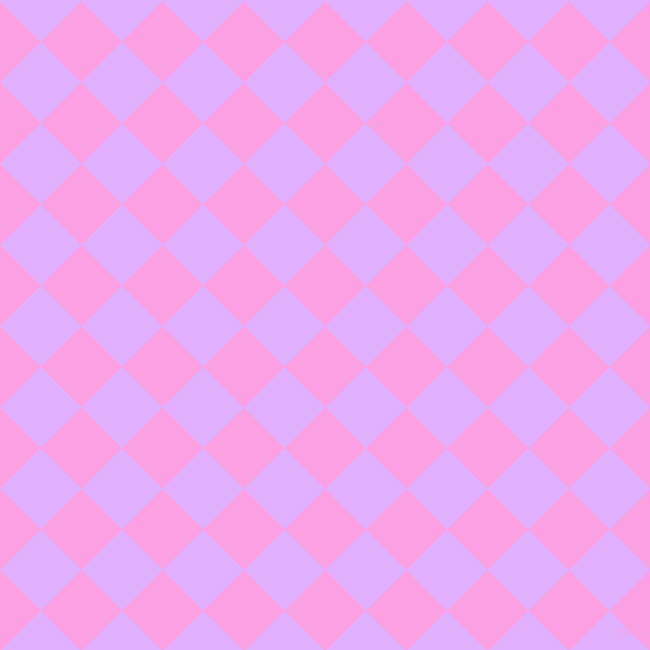 45/135 degree angle diagonal checkered chequered squares checker pattern checkers background, 64 pixel square size, , Lavender Rose and Mauve checkers chequered checkered squares seamless tileable