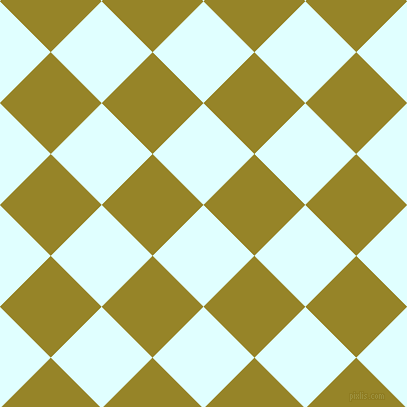 45/135 degree angle diagonal checkered chequered squares checker pattern checkers background, 72 pixel square size, , Light Cyan and Lemon Ginger checkers chequered checkered squares seamless tileable