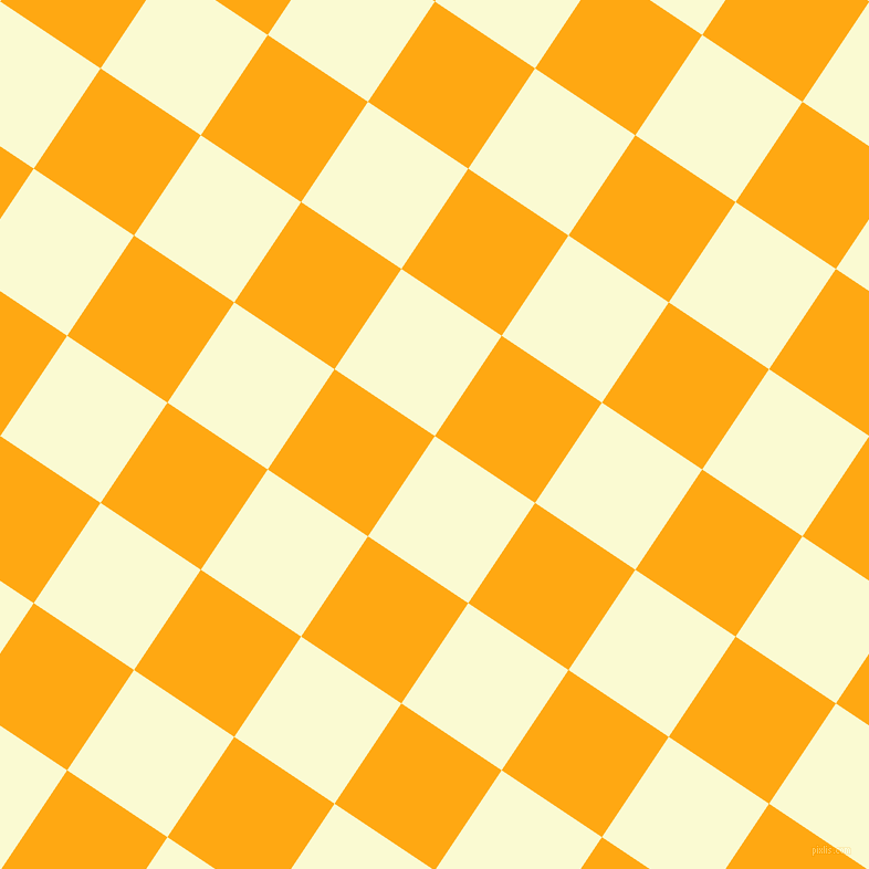 Yellow Checkered Rug: Light Goldenrod Yellow And Dark Tangerine Checkers