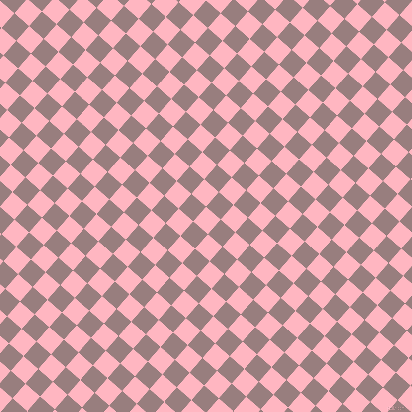 49/139 degree angle diagonal checkered chequered squares checker pattern checkers background, 39 pixel squares size, , Light Pink and Opium checkers chequered checkered squares seamless tileable