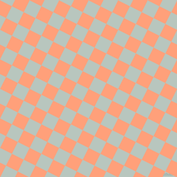 63/153 degree angle diagonal checkered chequered squares checker pattern checkers background, 46 pixel square size, , Light Salmon and Nebula checkers chequered checkered squares seamless tileable