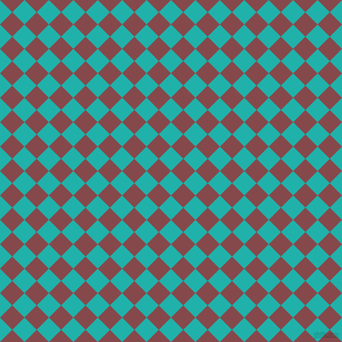45/135 degree angle diagonal checkered chequered squares checker pattern checkers background, 25 pixel squares size, , Light Sea Green and Solid Pink checkers chequered checkered squares seamless tileable