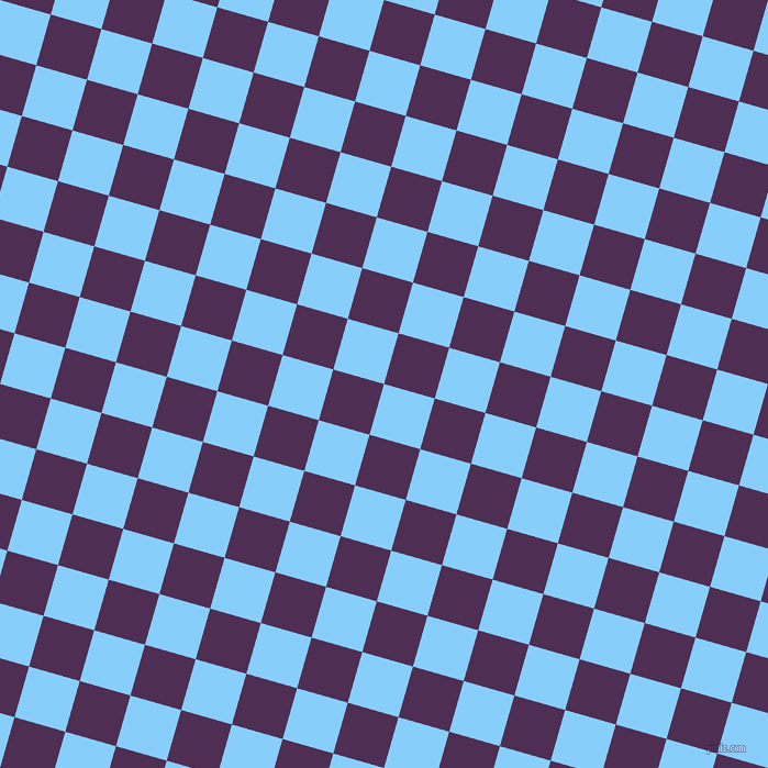 74/164 degree angle diagonal checkered chequered squares checker pattern checkers background, 48 pixel squares size, , Light Sky Blue and Hot Purple checkers chequered checkered squares seamless tileable