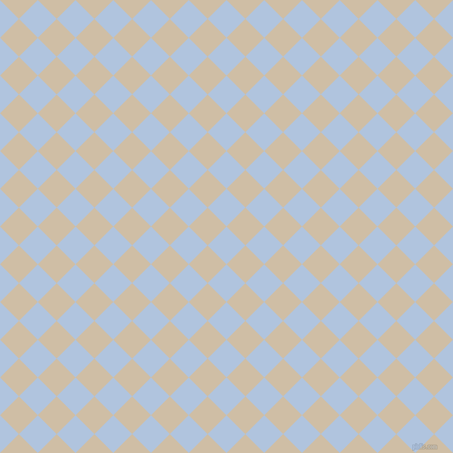 45/135 degree angle diagonal checkered chequered squares checker pattern checkers background, 38 pixel squares size, , Light Steel Blue and Soft Amber checkers chequered checkered squares seamless tileable