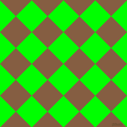 45/135 degree angle diagonal checkered chequered squares checker pattern checkers background, 78 pixel squares size, , Lime and Dark Wood checkers chequered checkered squares seamless tileable