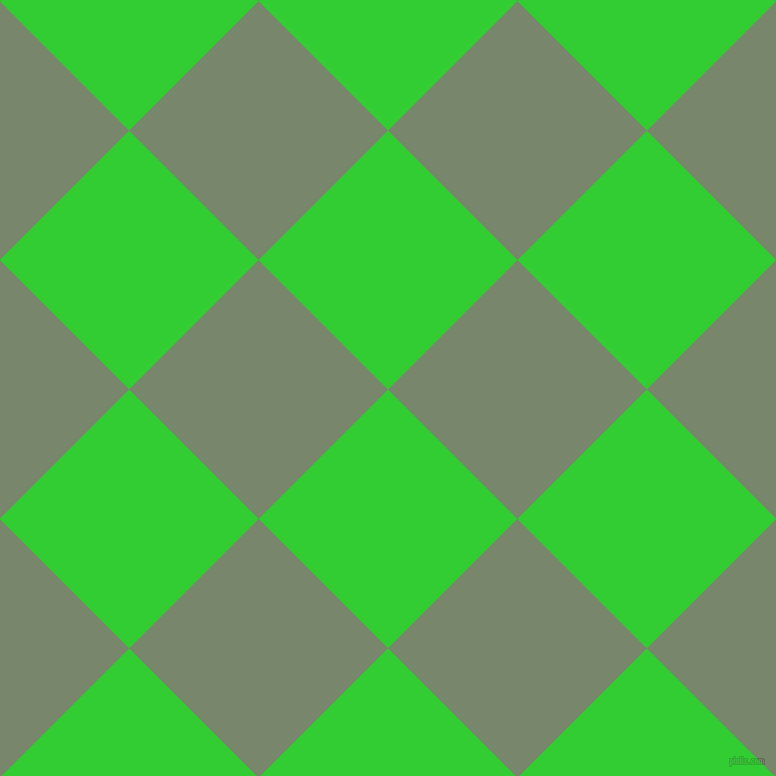 45/135 degree angle diagonal checkered chequered squares checker pattern checkers background, 183 pixel squares size, , Lime Green and Camouflage Green checkers chequered checkered squares seamless tileable