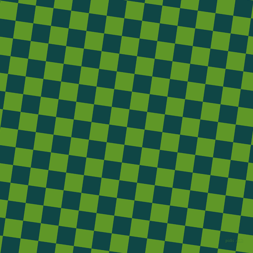 82/172 degree angle diagonal checkered chequered squares checker pattern checkers background, 36 pixel squares size, Limeade and Cyprus checkers chequered checkered squares seamless tileable