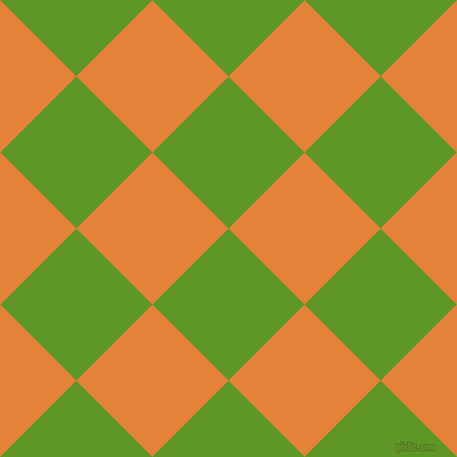 45/135 degree angle diagonal checkered chequered squares checker pattern checkers background, 97 pixel square size, , Limeade and West Side checkers chequered checkered squares seamless tileable