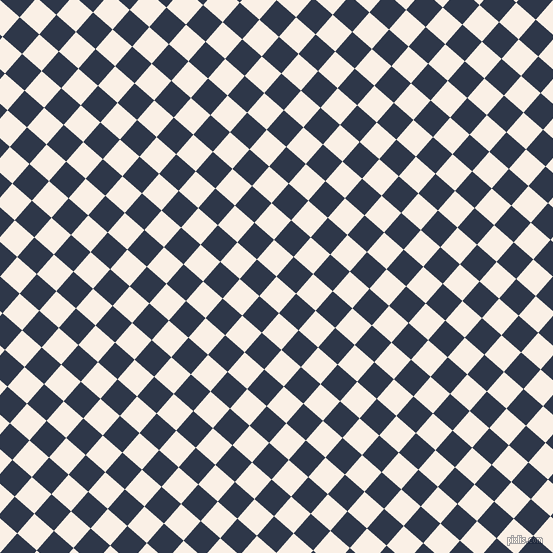 49/139 degree angle diagonal checkered chequered squares checker pattern checkers background, 26 pixel square size, , Linen and Licorice checkers chequered checkered squares seamless tileable