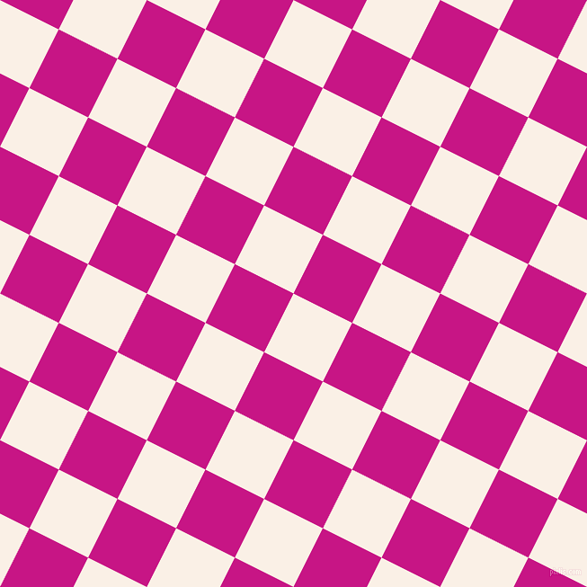 63/153 degree angle diagonal checkered chequered squares checker pattern checkers background, 73 pixel squares size, , Linen and Medium Violet Red checkers chequered checkered squares seamless tileable