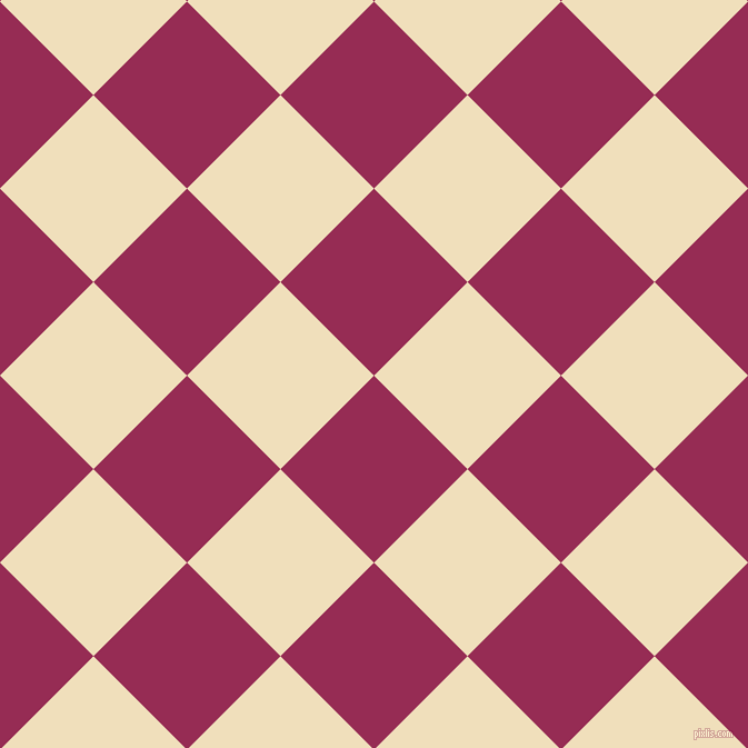 45/135 degree angle diagonal checkered chequered squares checker pattern checkers background, 119 pixel square size, , Lipstick and Dutch White checkers chequered checkered squares seamless tileable