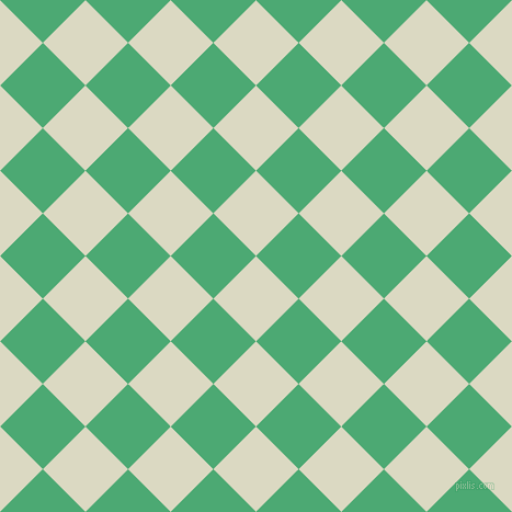 45/135 degree angle diagonal checkered chequered squares checker pattern checkers background, 55 pixel squares size, , Loafer and Ocean Green checkers chequered checkered squares seamless tileable