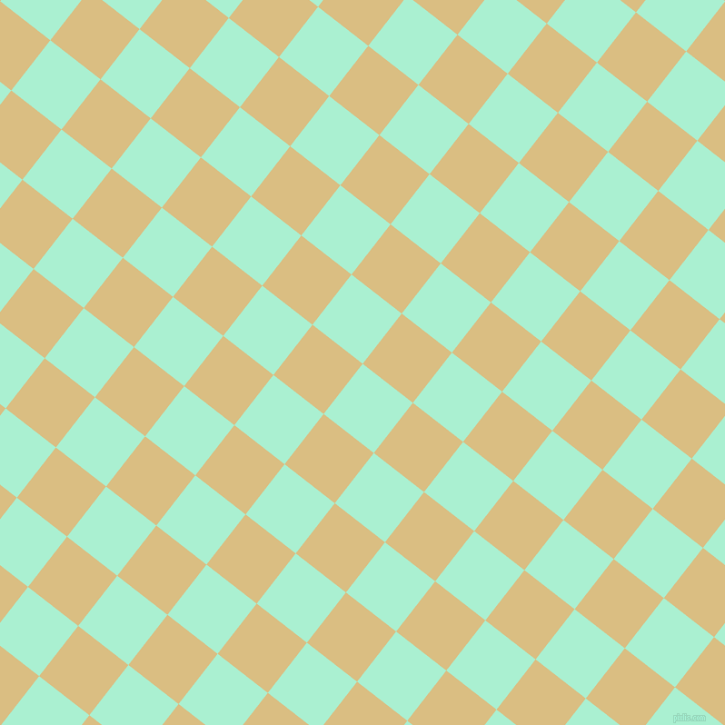 52/142 degree angle diagonal checkered chequered squares checker pattern checkers background, 70 pixel squares size, , Magic Mint and Straw checkers chequered checkered squares seamless tileable