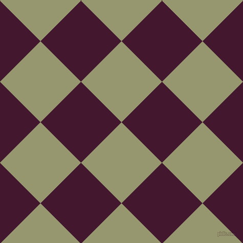 45/135 degree angle diagonal checkered chequered squares checker pattern checkers background, 112 pixel squares size, , Malachite Green and Blackberry checkers chequered checkered squares seamless tileable