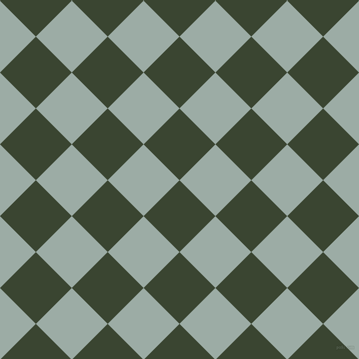 45/135 degree angle diagonal checkered chequered squares checker pattern checkers background, 100 pixel squares size, , Mallard and Tower Grey checkers chequered checkered squares seamless tileable