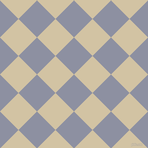45/135 degree angle diagonal checkered chequered squares checker pattern checkers background, 84 pixel squares size, , Manatee and Double Spanish White checkers chequered checkered squares seamless tileable