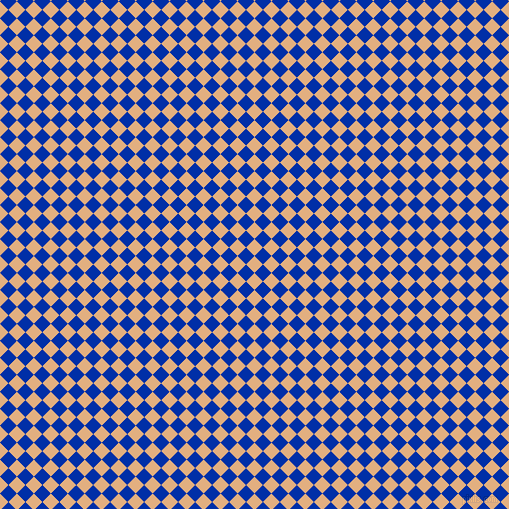 45/135 degree angle diagonal checkered chequered squares checker pattern checkers background, 12 pixel square size, , Manhattan and International Klein Blue checkers chequered checkered squares seamless tileable